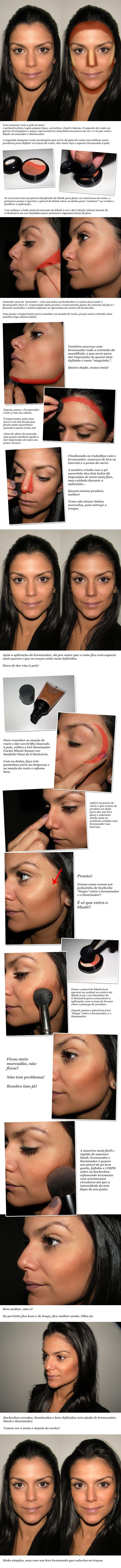 Como fazer o contorno e a iluminação do rosto