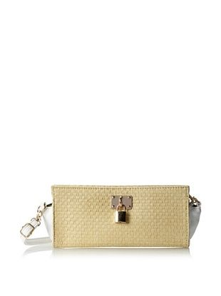 37% OFF Nila Anthony Women's Extendable Strap Clutch with Lock Detail, White, One Size