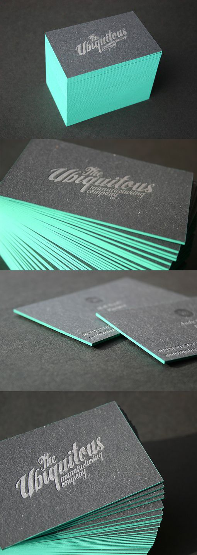 Edge Painted Letterpress Business Card Design