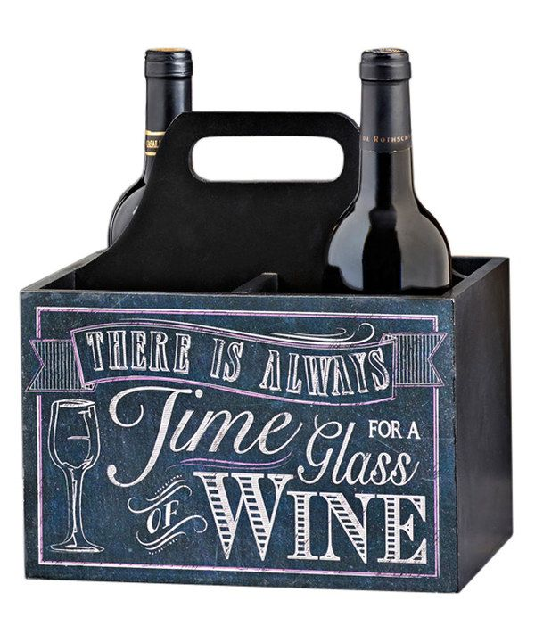 Look at this Chalk Talk Wine Caddy on #zulily today!