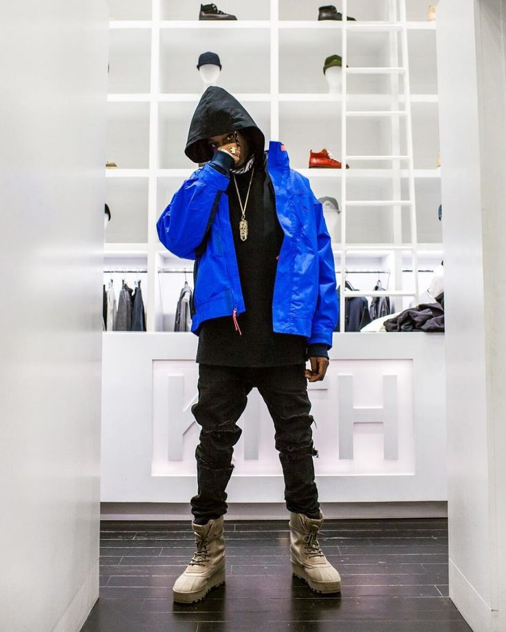 Joey Badass wearing the adidas Yeezy 950