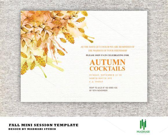 Autumn Cocktails Party Invitations  @creativework247