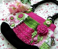 Vendula Maderska - Pesquisa Google: Awesome Crochet, Pink Handbags, Crochet Things, Crochet Goodies, Crochet Favorite, Crochet Bags Bait Cushions, Crochet Bagsbaitscushion, Crochet Patterns, Crochet Today