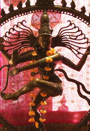 Lord Shiva's extraordinary dance of destruction of the worlds