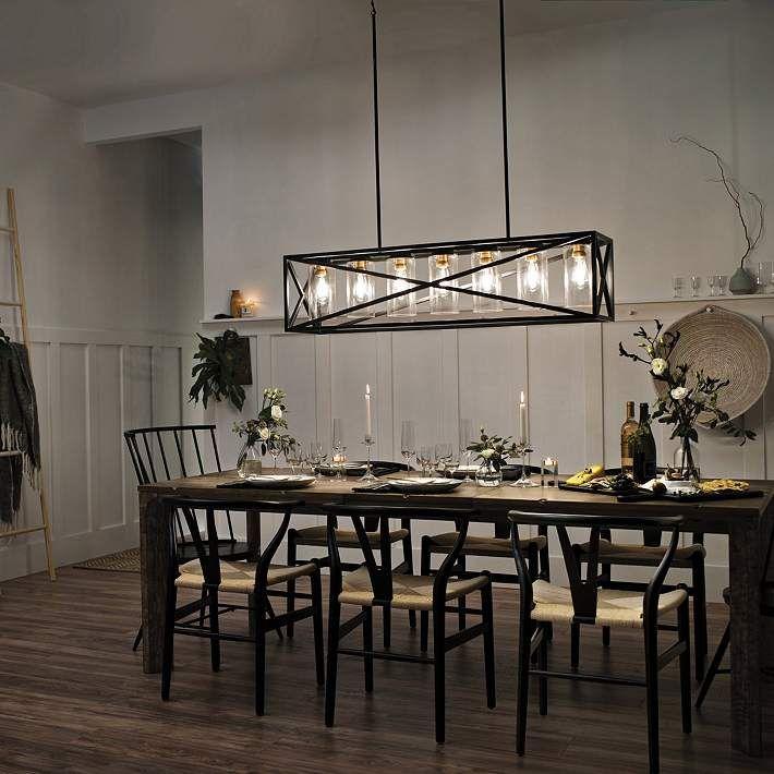 Kichler Moorgate 36 Wide Black Kitchen Island Light Pendant 42r98 Lamps Plus In 2021 Farmhouse Dining Room Lighting Dining Room Lighting Dining Room Light Fixtures