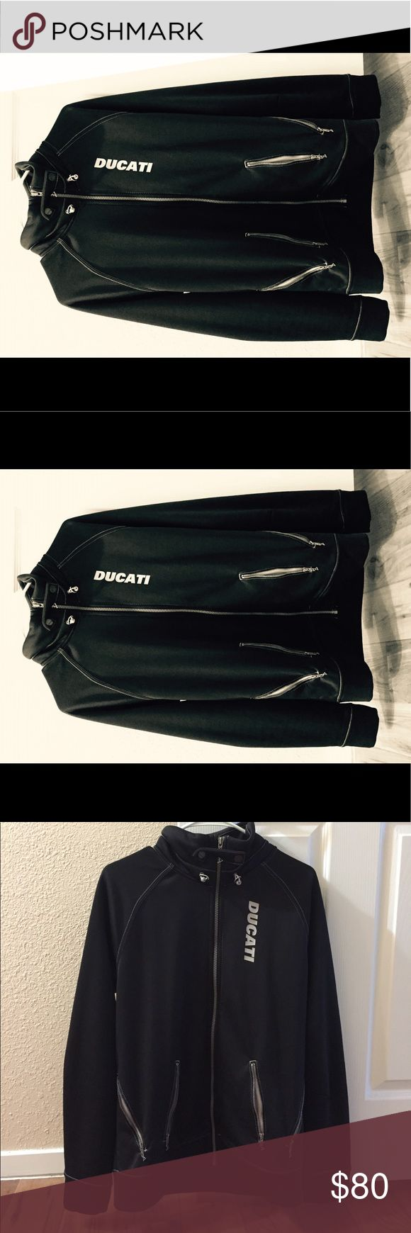 Motorcycle gloves with id pocket - Ducati Jacket Jet Black From Puma Original Ducati Jacket With Front Zipper And 4