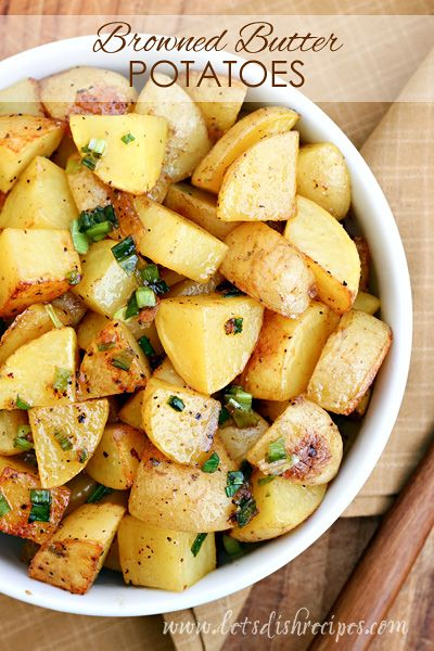 Browned Butter Roasted Potatoes on MyRecipeMagic.com