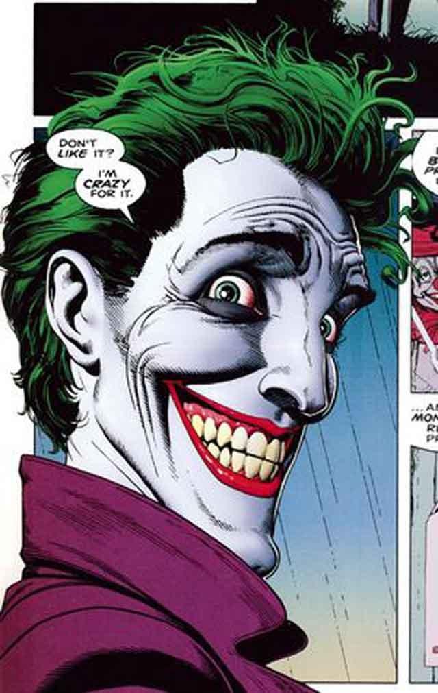 The Joker (art by Brian Bolland from BATMAN: THE KILLING JOKE)