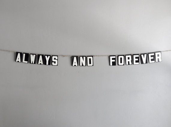 always and forever vintage modern bunting / by oh albatross on Etsy