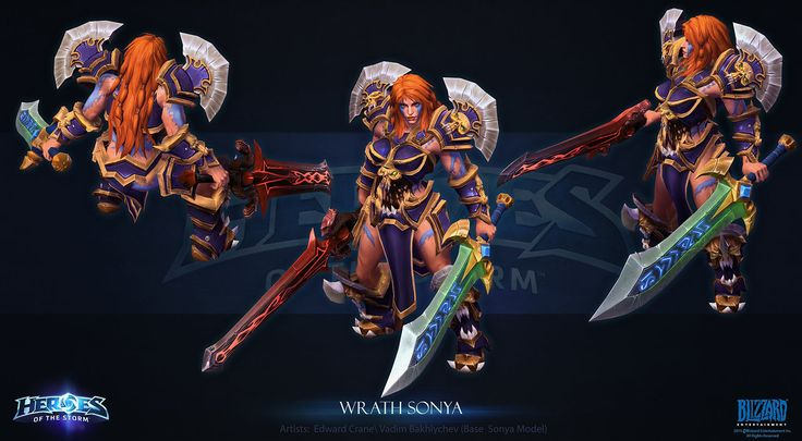 Wrath Sonya by Azetlor Ed Crane Heroes of the Storm
