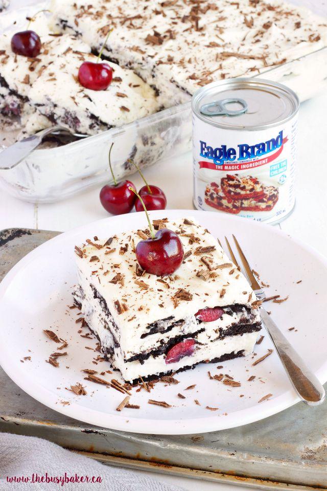 A super easy 4-ingredient summer dessert, Black Forest-style!