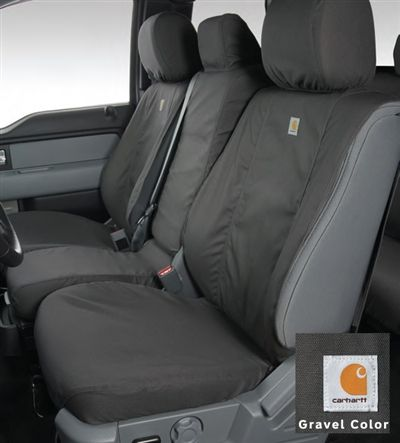 2011-2014 Ford F-150 Carhartt Seat Covers - Gravel, 40-20-40 Front Seat All Cabs at Partscheap.com