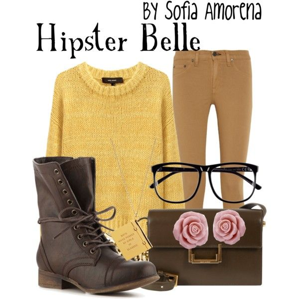 """Belle but hipster"" by sofiaamorena on Polyvore"