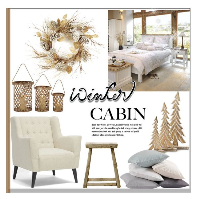 """""""Winter Cabin 2"""" by pat912 ❤ liked on Polyvore featuring interior, interiors, interior design, home, home decor, interior decorating, Thos. Baker, Uma, Baxton Studio and Bloomingville"""