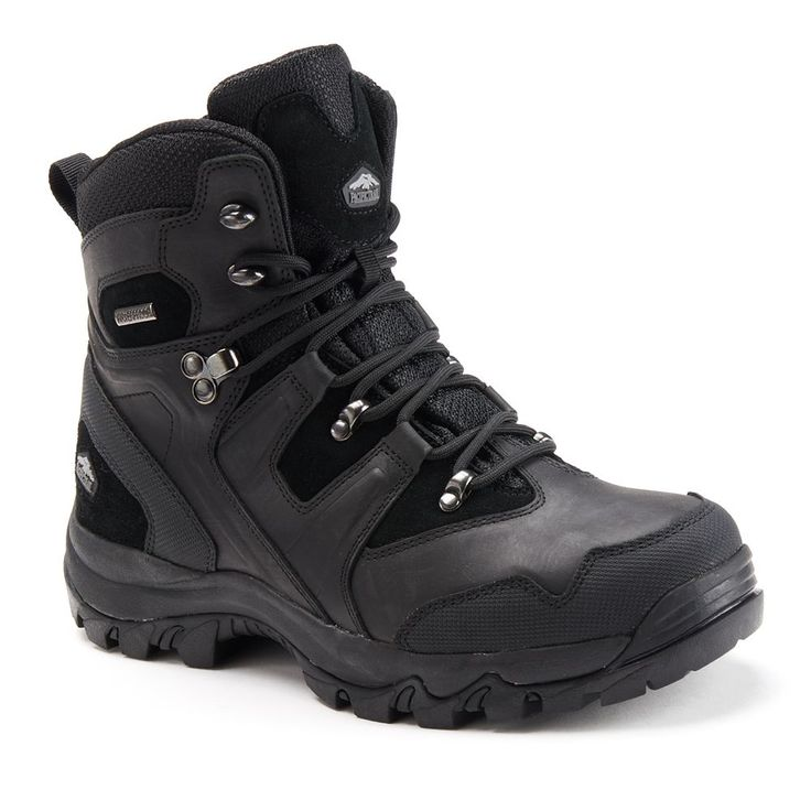 Pacific Trail Denali Men's Waterproof Hiking Boots, Size: 11.5, Black