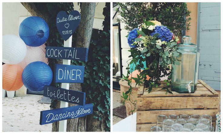 Mariage en provence j o d coration cigales et petits fours mariage en bleu nos mariages for Decoration rocaille aixen provence
