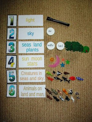 Montessori Inspired Kids Bible Activities - creation 7 days props (Every star is different)