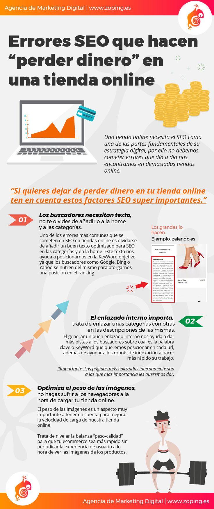 Hola: Una infografía sobreErrores SEO en una Tienda Online. Vía Un sal