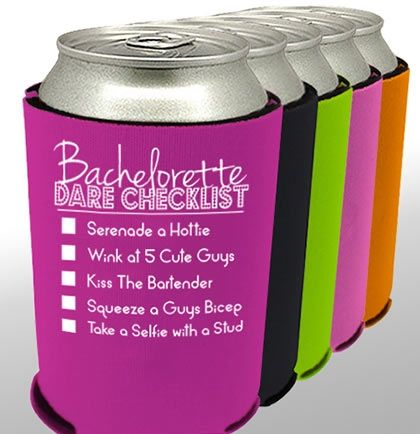 Bachelorette Dare Checklist Koozie is a fun game and a koozie in all in one!