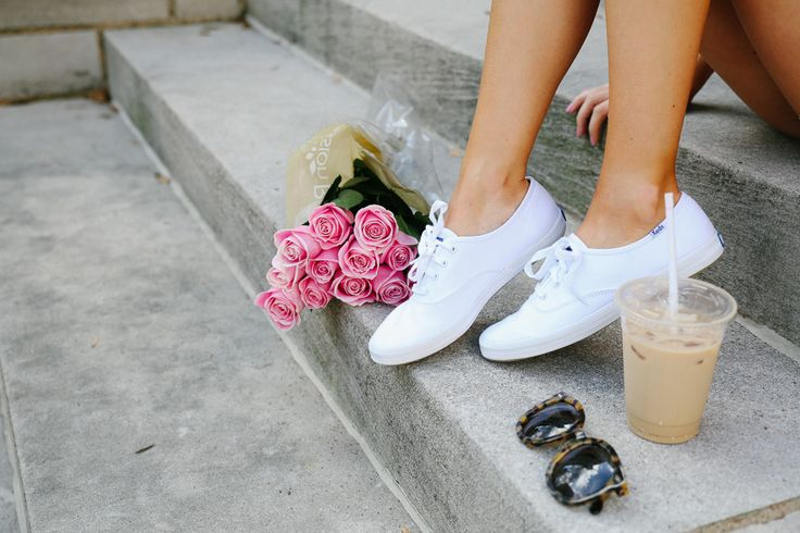 Southern Curls & Pearls: Back At It Again with the White Keds...