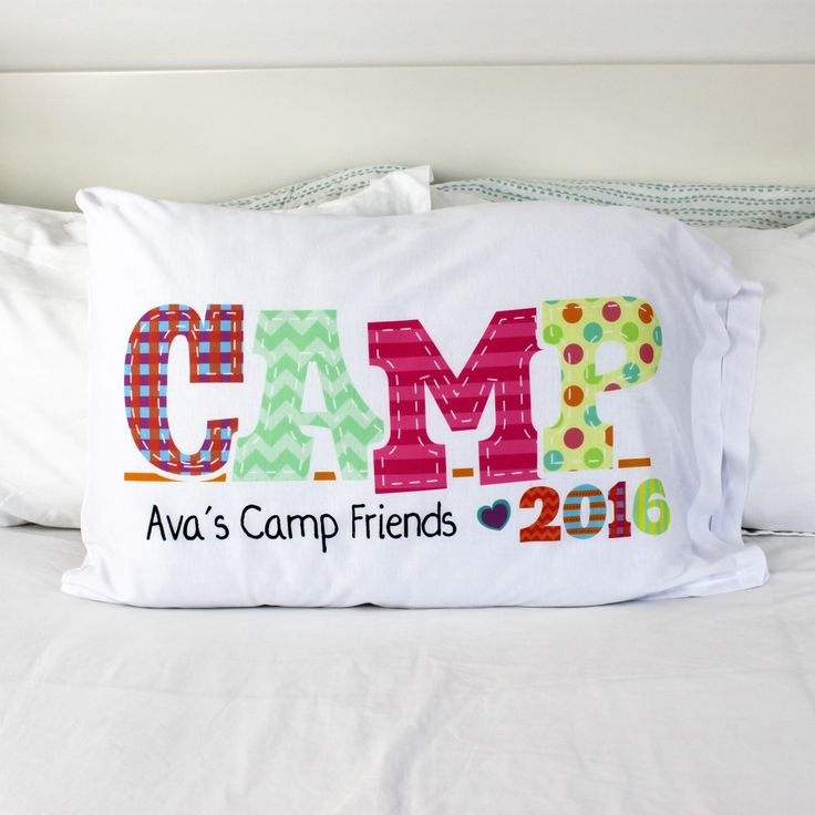 Cute camp pillowcases make the perfect gift for your little girl. She'll love this soft cover personalized with her name. If she wants, she can have all her friends sign it at the end of the summer, and it will make a great memento all year long.