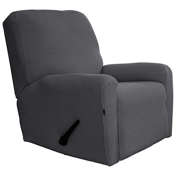 Amazon Com Easy Going Recliner Stretch Sofa Slipcover Sofa Cover 4 Pieces Furniture Protector Couch Soft With Elas Slipcovers Furniture Protectors Sofa Covers