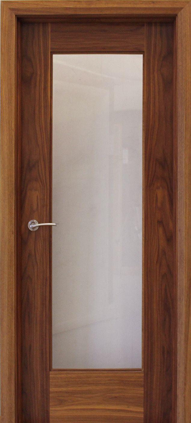 Shaker 1 Lite Walnut Door (40mm) | Internal Doors | Walnut Doors - door store £110
