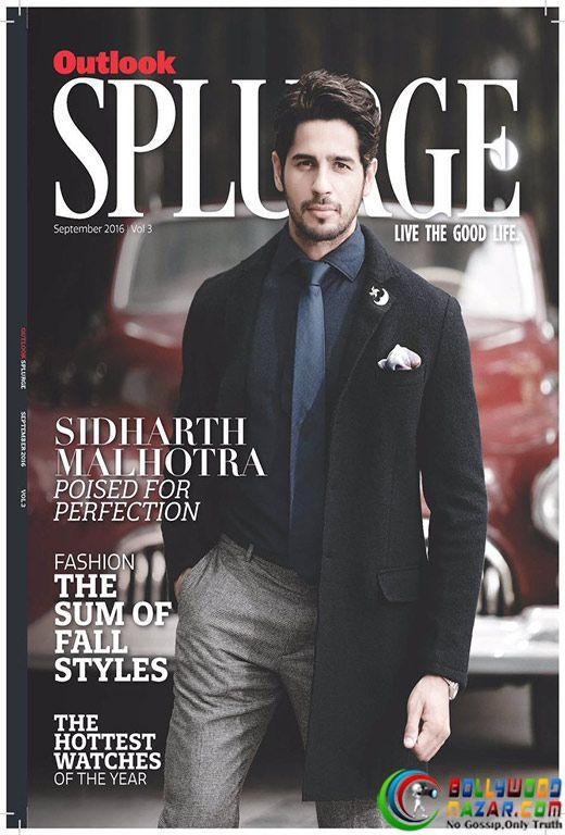 IMPECCABLE AND HOT SIDHARTH MALHOTRA ON THE COVER OUTLOOK SPLURGE!  #Bollywoodnazar #SidharthMalhotra
