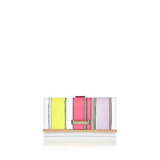Pink stripe clip top purse - purses - bags / purses - women