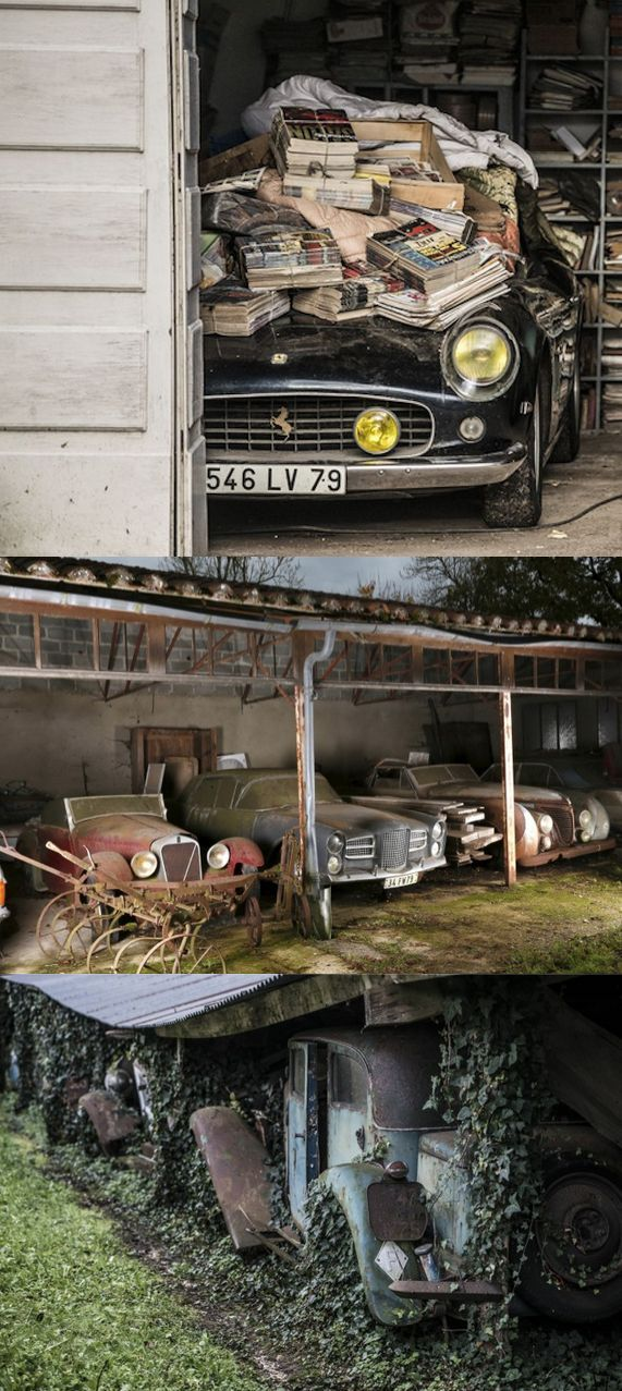 The ultimate barn-find: 60 rare vintage cars found rotting after 50 years in hiding.