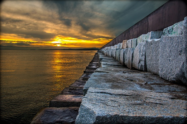 Ogden Point Breakwater, Nightfall, via Flickr.