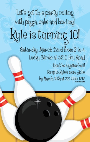 35 best Bowling Party images on Pinterest Birthdays, Anniversary - bowling flyer template free