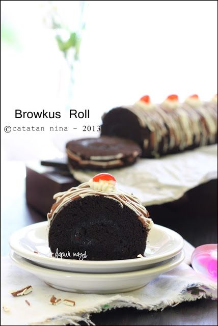 BROWNIES KUKUS ROLL - catatan-nina