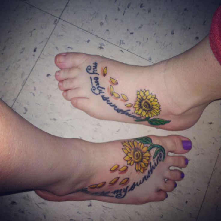"I love me and moms tattoos, mine says ""You are my sunshine ...