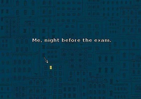 Night before the exam… #lol #haha #funny