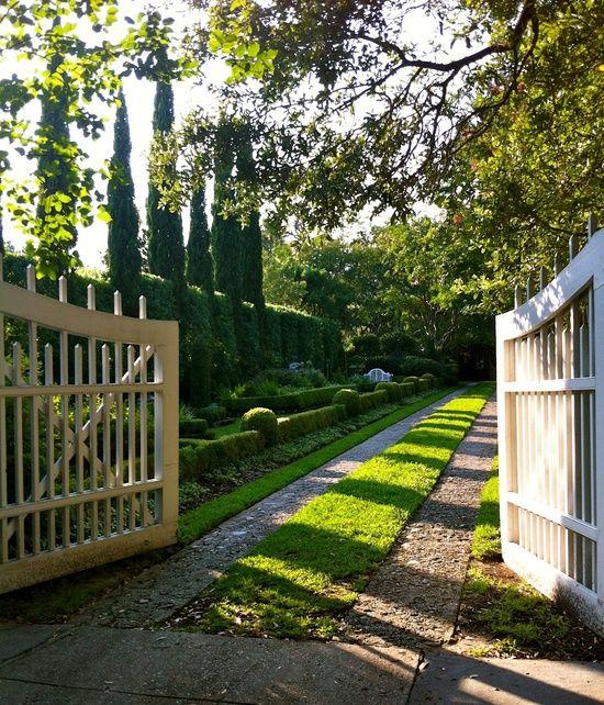 simple picket gate