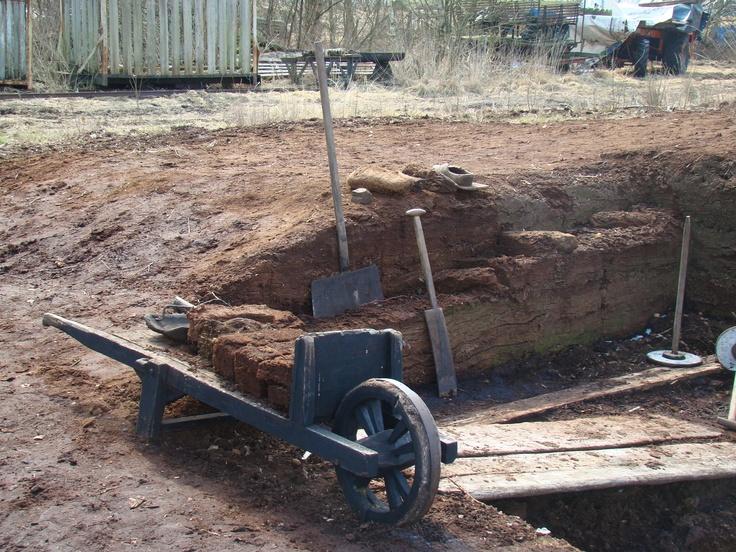 Turfgravers gereedschap. Peat stabbing tools# Turfgraver, het beroep van mijn vader, zwaar werk in de natte turf.....