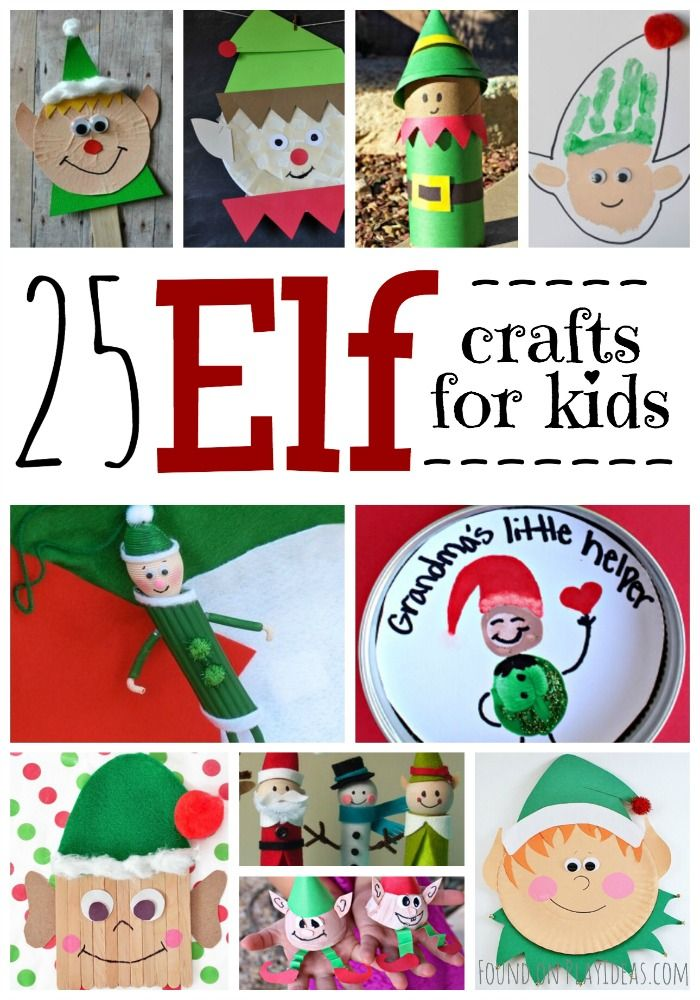 25 awesome elf crafts for kids weihnachten for F crafts for toddlers