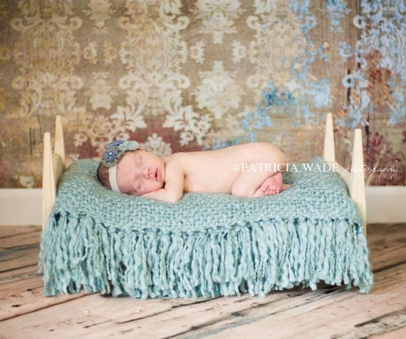 Photography Prop Bed for Newborns includes mattress and fitted sheet - baby bed photo prop for newborn photography