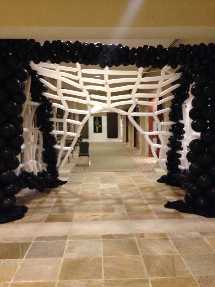 648 best balloon halloween figures decorations images on for Halloween dance floor ideas