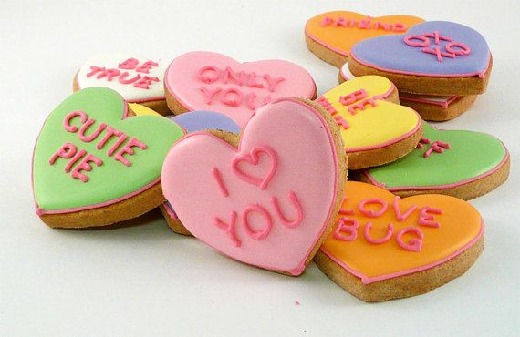 Decorated Cookies Valentines Day Message Hearts 1