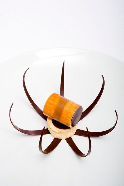 a chocolate flower from chefs at Relais & Chateaux Nice ; )  France  #spa styled dessert  La chrysalide au chocolat à Le Petit Nice-Passédat, Marseille, France © anne-emmanuelle thion