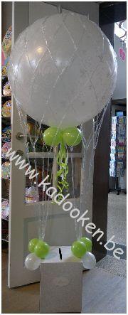 Enveloppendoos Huwelijk met luchtballon, huwelijk, ballonnen huwelijk, bruiloft, ballondecoratie, huwelijksballonnen, decoratie huwelijk