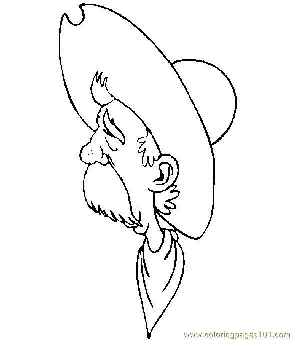 Free Printable Coloring Image Cowboy Page 001 17