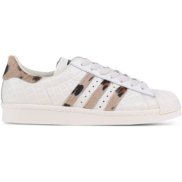Adidas Originals Low-Tops & Trainers found on Polyvore featuring shoes, sneakers, adidas, ivory, flat shoes, adidas originals sneakers, rubber sole shoes, ivory shoes and ivory leather shoes