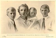 Moritz, Landgrave of Hesse - Moritz (right) with his mother and brothers