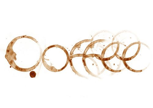 I enjoy all types of coffee drinks year round - decaf & non-fat of course. My favorite coffee house is Crimson Cup; great for java, studying, and reading, This is a clever (coffee cup rings) coffee typography.