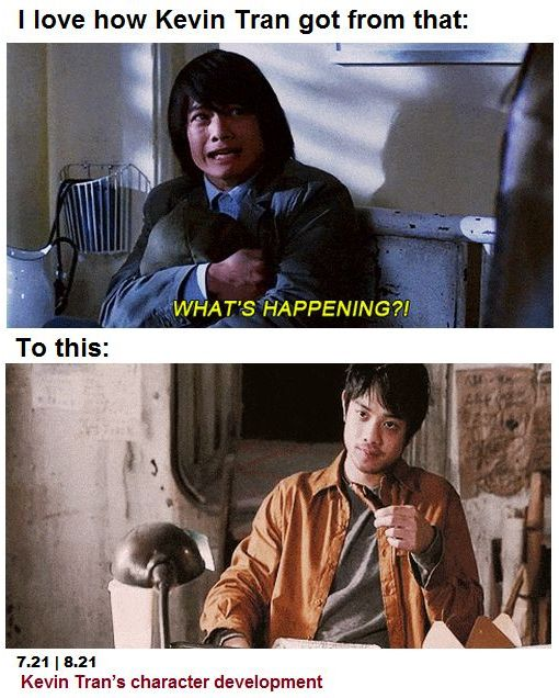 "From ""Kevin Tran: Advanced Placement"" to ""Kevin Freakin' Solo!"" :)"