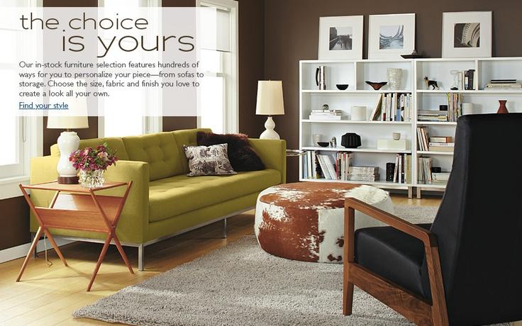 Modern Furniture - Room & Board: Ideas, Interior, Living Rooms, Color, Dream House, Livingroom, Table, Board, Round Ottoman
