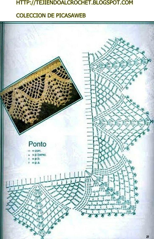 TRICO y CROCHET-madona-mía: Barrinha de crochet- Patrones de puntillas